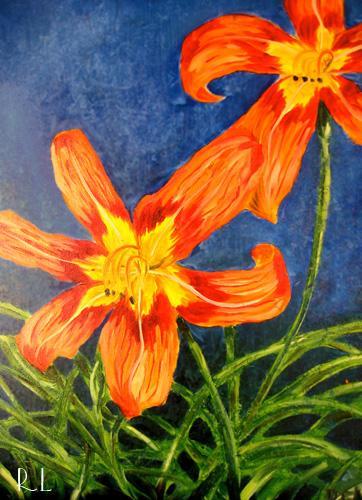 Flowers 2002 - Painting by Renee Keith