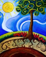 Happy Earth Oil Painting by Renee Keith 2008