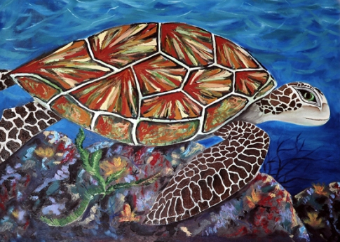 honu 2004 or 05, inspired by trip to Maui, original given to my sister Sheri