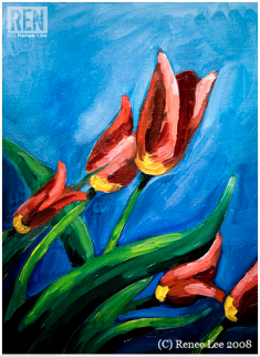 Tulips 2008, original given to my hubby because he likes Tulips :)