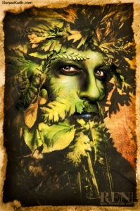 Green Man - Tarot Card by Renee Keith