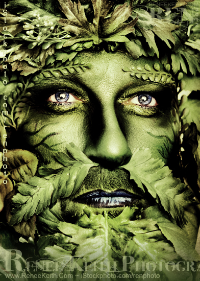 Green Man Photography by Renee Keith