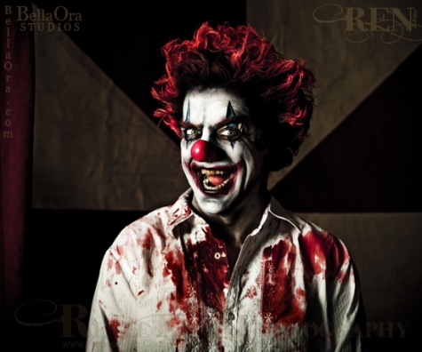 Evil Clown ~ Makeup and Photography by Renee Keith