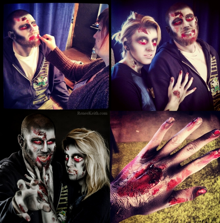 Zombies! Makeup by Renee Keith