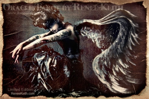 Dark Angel - Limited Edition Tarot Card. Oracle Tarot by Renee Keith