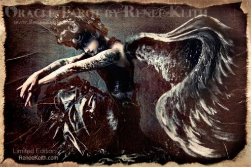 Dark Angel - Limited Edition Tarot Card. Oracle Tarot by Renee Keith
