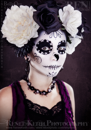 Sugar Skull ~ Makeup & Photography by Renee Keith