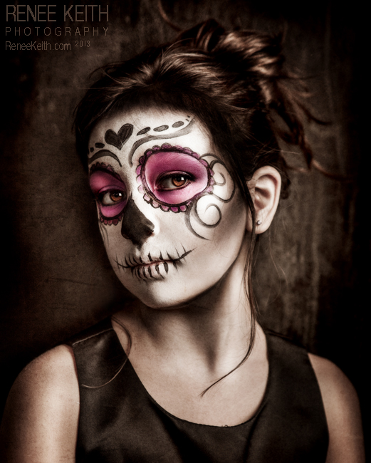 Sugar Skull -  Makeup & Photography by Renee Keith