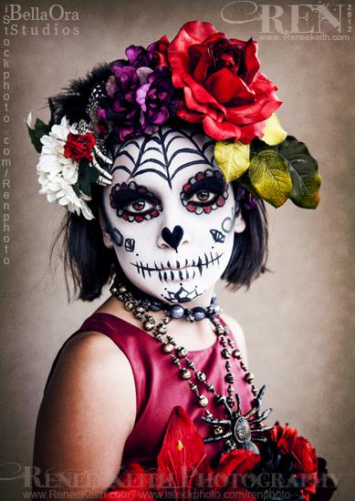 Sugar Skull - Halloween Makeup by Renee Keith