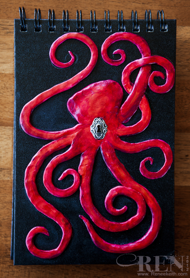 Sculpted octopus book cover art :)