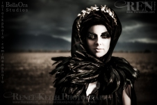 Old World Skeleton Goddess Photography by Renee Keith