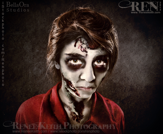 Zombie - Halloween Makeup by Renee Keith