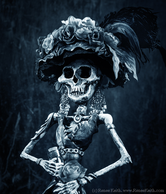 La Catrina Sculpture by Renee Keith