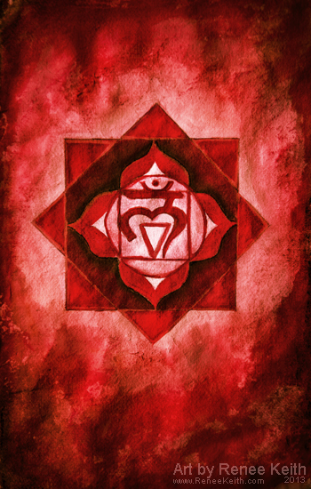 Root Chakra Painting by Renee Keith