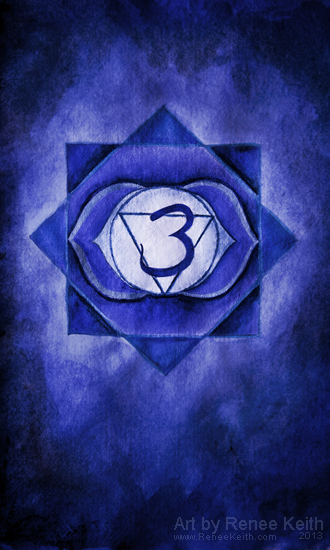 Third Eye Chakra - Art by Renee Keith