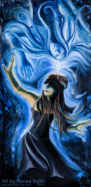 Looking for the Higher Self - Oil on Canvas - Art by Renee Keith