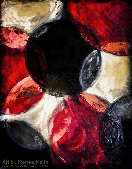 Circle Painting - Artwork by Renee Keith