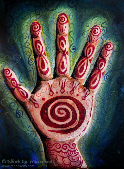 Reiki Hand ~ Artwork by Renee Keith