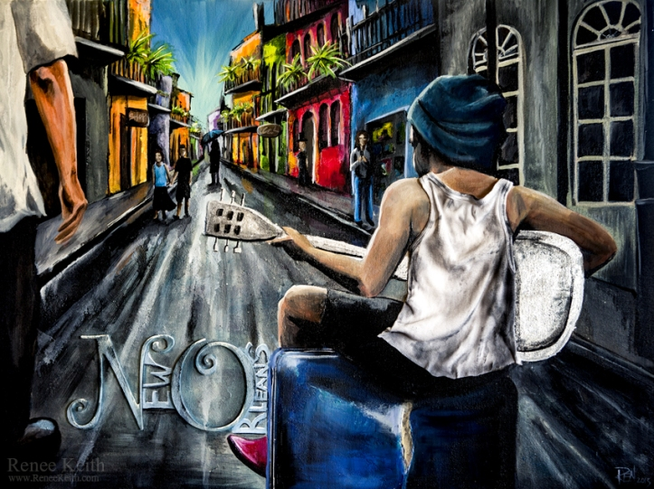 NOLA Painting by Renee Keith
