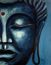 Buddha Face Series (#6) ~ Artwork by Renee Keith.