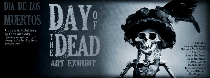 Day of the Dead Exhibit Oct 18th @ the Urban Art Gallery in SLC