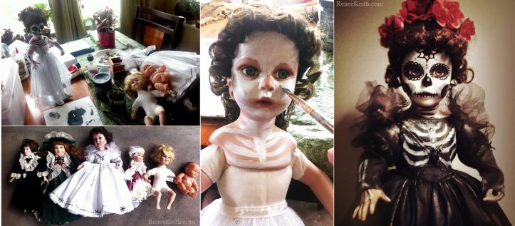 Painted Suga Skull Dolls - by Renee Keith