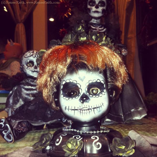 Painted Sugar Skull Dolls - by Renee Keith