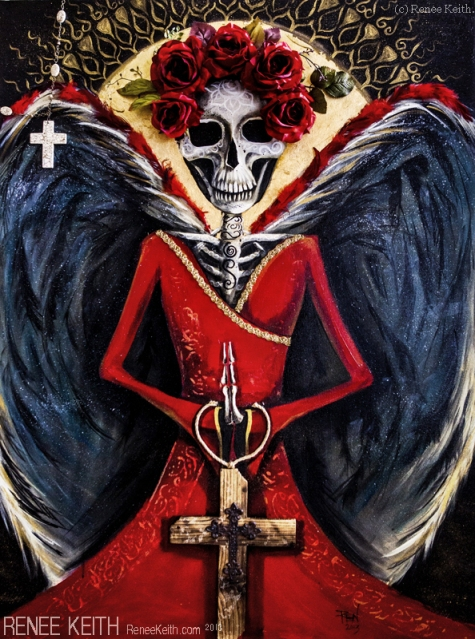 Day of the Dead, Angel of Death ~ Artwork by Renee Keith