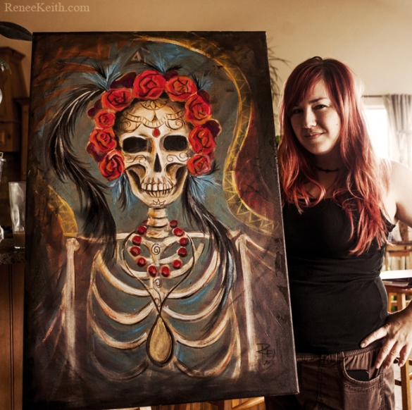Dia De Los Muertos Painting - Art by Renee Keith