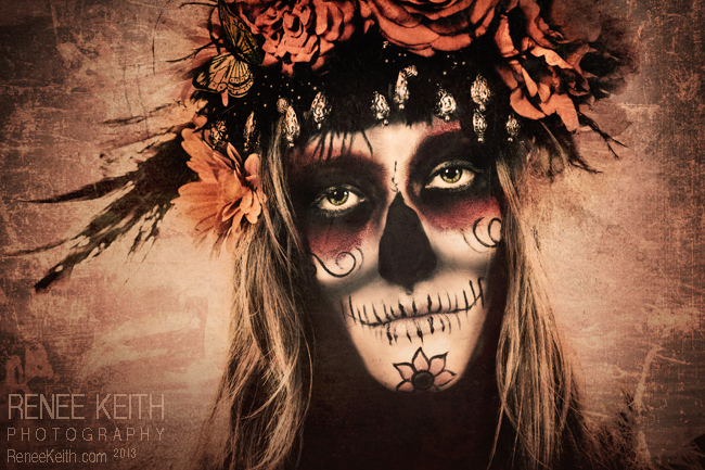 SugarSkull ~ Makeup and Photography by Renee Keith