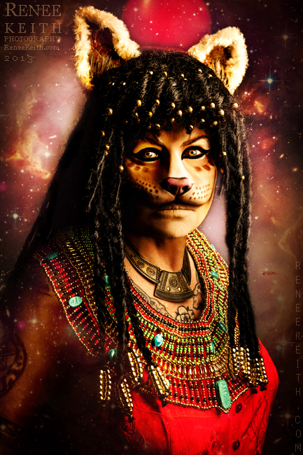 Sekhmet Egyptian Goddess ~ Makeup & Photography by Renee Keith