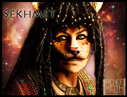 Sekhmet Egyptian Goddess ~ Makeup & Photography by Renee Keith