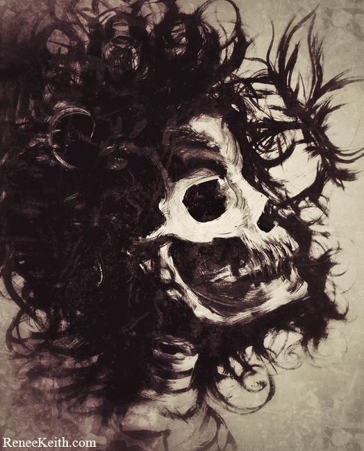 Skull Art by Renee Keith