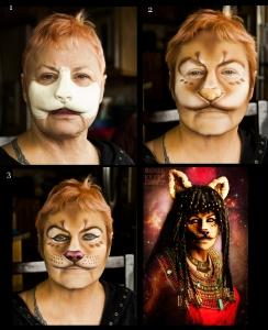 Sekhmet Makeup Process ~ Makeup and Photography: Renee Keith