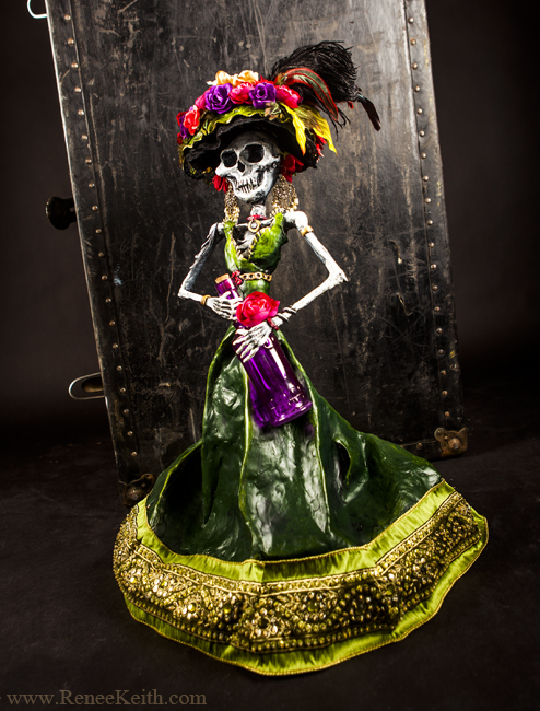 La Catrina (Day of the Dead) Sculpture ~ Art by Renee Keith