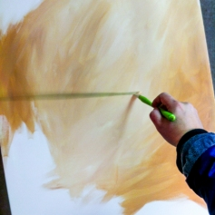 Painting an acrylic background
