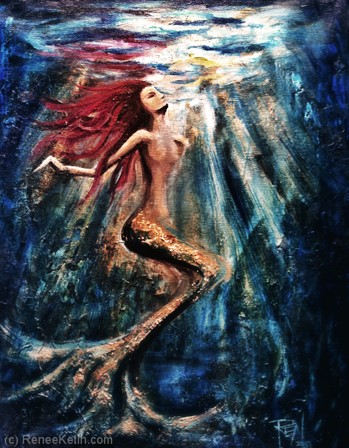 Mermaid Art ~ by Renee Keith. www.ReneeKeith.com
