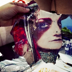 In the art studio: Photo Transfer