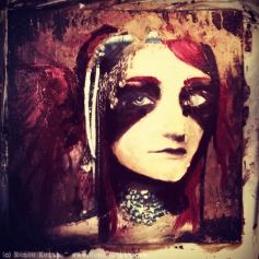 In the art studio: Photo Transfer Painting