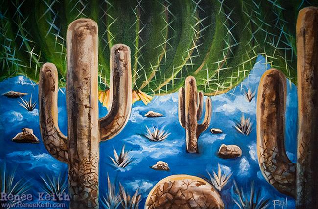 Surreal Desert - Art by Renee Keith