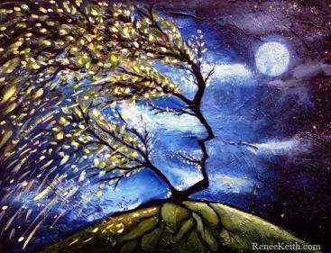 Surreal Tree Art by Renee Keith