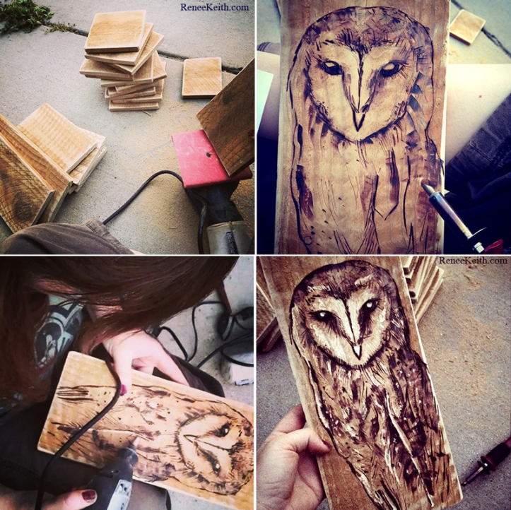 Pyrography by Renee Keith - OWL