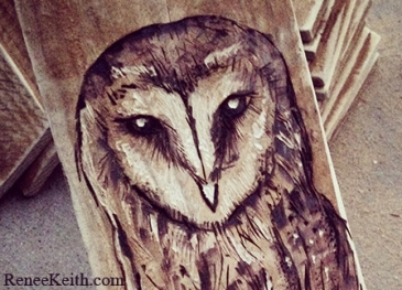 Pyrography by Renee Keith