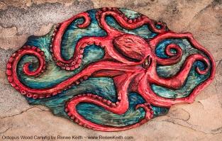 Renee Keith - Octopus Wood Carving