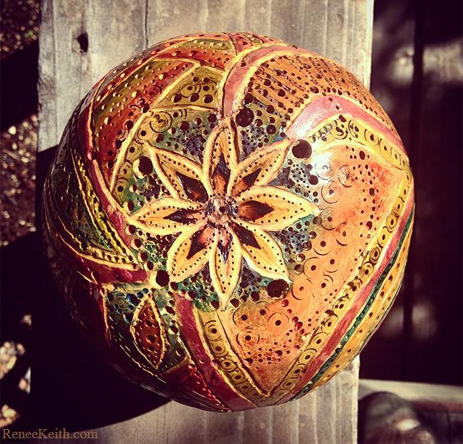 Gourd Lamp By Renee Keith