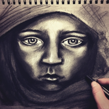 Charcoal Drawing art study