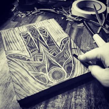Hamsa Art by Renee Sarasvati